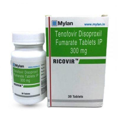 Thuốc RICOVIR Thuốc tenofovir 300mg Thuốc Tenofovir disoproxil fumarat 300mg Thuốc Ricovir mua ở đâu, Thuốc Ricovir giá bao nhiêu