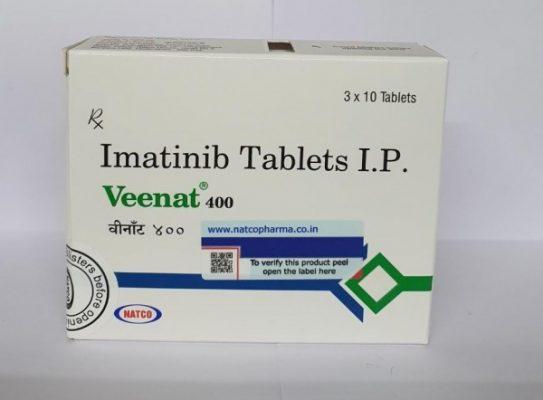 Thuốc VEENAT 400 Thuốc Imatinib 400mg Thuốc VEENAT 100 Thuốc Imatinib 100mg