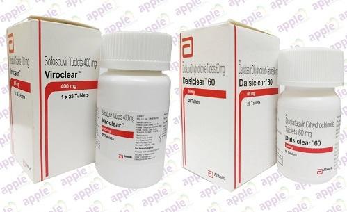 Thuốc Viroclear Thuốc Dalsiclear 60mg Thuốc Daclatasvir Thuốc Sofosbuvir 400mg