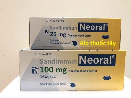 Thuốc Neoral 100 - Thuốc Neoral 25 - Thuốc cyclosporin 25mg - Thuốc cyclosporin 100mg