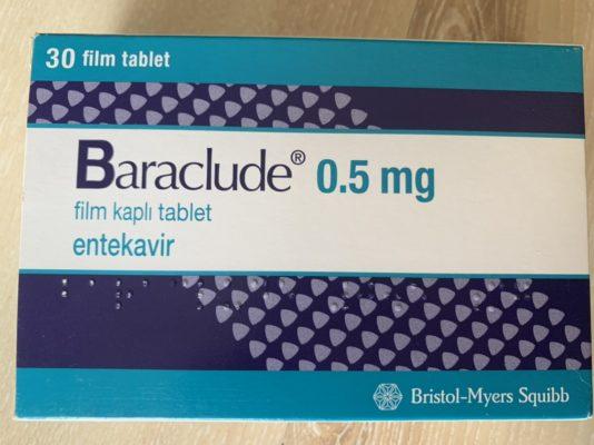 Thuốc Baraclude 0.5mg Thuốc Entecavir 0.5mg